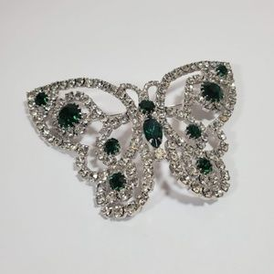 Vtg Tammey Jewels Rhinestone Butterfly Brooch